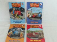 Adorable Set 1 of Four 'Little Red Tractor' Bedtime Story Ladybird Glossy Books